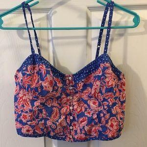 3/$25 floral a&f crop blouse